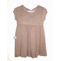 Vestido marrom - Tamanho M - 6 a 9 meses - Kiki Xodó