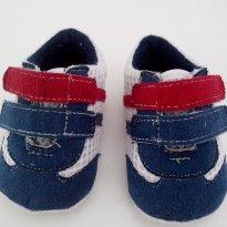 Sapatinho azul, vermelho e branco TAM 14 - 14 - Tex