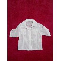 Blusa branca    TAM G - 9 meses - Chicletaria