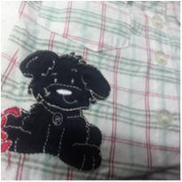 Camisa xadez, quadriculado, branco azul marinho, verde e vermelho - 3 a 6 meses - Toys & Kids