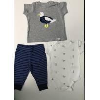 Conjunto pelicano da Carter's - 3 meses - Carter`s