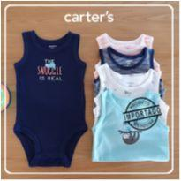 Kit Body regata 5 unidades 6 meses - Carters - 00033 - 6 meses - Carter`s