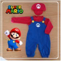 Kit Mario Bros Algodão tamanho P - 3 meses - Fantasia