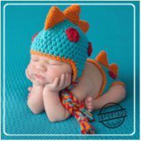 Kit Lã Dinossauro + Toca sapo 0-3 meses - Newborn - 00019 - 0 a 3 meses - Importado