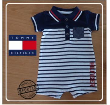Macacão manga curta 3-6 meses - Tommy - 3 a 6 meses - Tommy Hilfiger