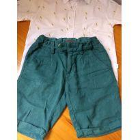 Short/ bermuda linho verde - 6 anos - Tigor T.  Tigre
