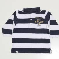 Camiseta Pólo Manga Longa Piquet - Toffee - 1 ano - Toffee