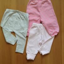 Kit com três calças lindas - 3 a 6 meses - Early  Days