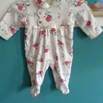 Macaquinho Floral Menina - 3 a 6 meses - Outra