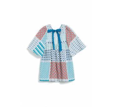 Vestido Fábula Azulejinho - Tam 4, 6, 8 e 10 - 10 anos - Fábula
