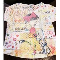 Camiseta infantil menina estampada tam 6 - 6 anos - Passagem secreta
