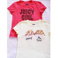 Kit com 2 camisetas Juicy Couture tam M (veste 5-6 anos) - 6 anos - Juicy Couture