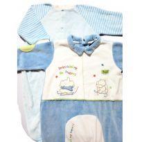 Macacão para Bebê Menino Kit com 2 peças tamanho 3-6 meses - 3 a 6 meses - Tilly Baby
