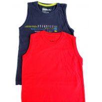Camiseta Regata para Menino Kit com 2 Peças tamanho 8 - 8 anos - Rovitex Kids e Gangster
