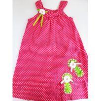 Vestido Infantil Pink de Bolinhas Tamanho 8 - 8 anos - Não informada