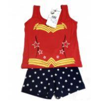 Pijama Infantil Mulher Maravilha - 2 anos - Não informada