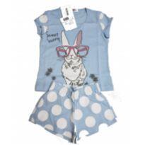 Pijama Infantil Curto Coelhinho - 2 anos - Não informada