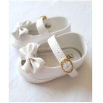 Sapato para bebê Pimpolho Branco Tam 04 (16) - 04 - Pimpolho