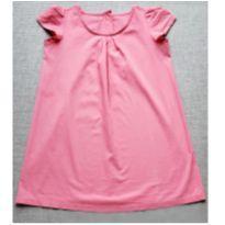 Vestido em algodão rosa - 8 anos - Não informada