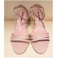 Sandália feminina rosa anabela - 38 - Não informada