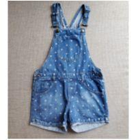 Jardineira Jeans  Infantil - 10 anos - Palomino