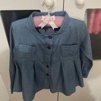 Vestido jeans com manga - 12 a 18 meses - Importado EUA