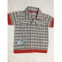 Camisa Xadrez manga Curta Bebe - Tam 6/9 Meses - 6 a 9 meses - Baby Way