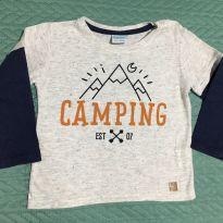 Camiseta Camping Baby Way - TAM 6/9 meses - 6 a 9 meses - Baby Way