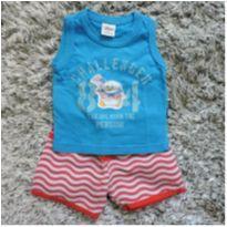 Conjunto shorts e regata - 3 a 6 meses - Elian