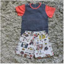 Pijama Body Shorts Tam. - 12 a 18 meses - Sonhart