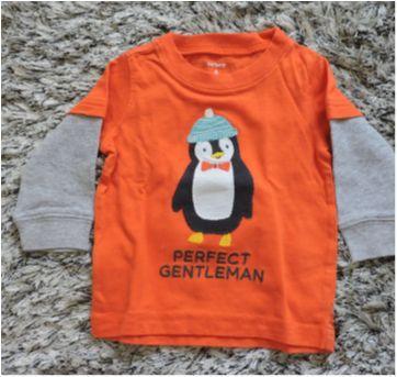 Kit 2 Camisetas manga longa Carters - 6 meses - Carter`s