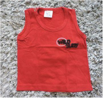 Kit camiseta regata - 3 a 6 meses - NINANDO