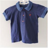 Camiseta Polo Azul - 18 a 24 meses - Paraíso e sem etiqueta
