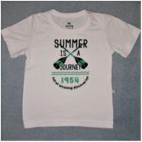 Camiseta Branca Hering - 6 a 9 meses - Hering Kids