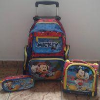 Kit de mochila, lancheira e estojo mickey. -  - MICKEY