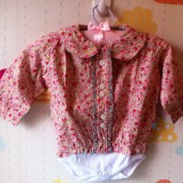 Camisa Floral - 3 a 6 meses - Meny Doggy
