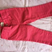 Calça GAP Jean rosa Pink com bolinhas - 12 a 18 meses - GAP