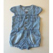 Macaquinho Jeans! - 12 a 18 meses - Baby Club