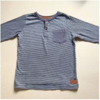 Camisa listrada-manga longa - 4 anos - Poim, Cherokee e Up Baby