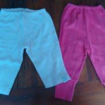 Kit calças P - 3 a 6 meses - Bicho Molhado e Primeiro Amor