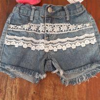 Short Jeans aplicação renda - 4 anos - Pool Kids