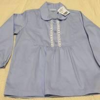 Linda camisa de algodão, modelo batinha. Nunca usada. Tam. 4 - 4 anos - Não informada