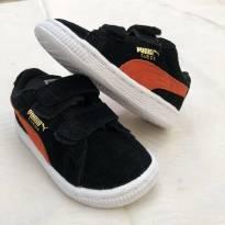 Tênis Original Puma Suede preto e laranja. TAM. 19 (Preço original R$ 149,90) - 19 - Puma