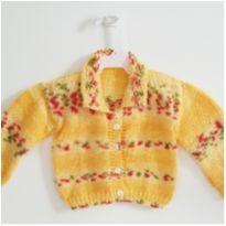 Casaco de Lã Amarelo - 6 a 9 meses - Artesanal