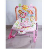 Cadeirinha vibratória Fisher-Price rosa -  - Fisher Price