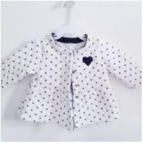 Casaco Branco - 3 meses - sem etiqueta