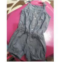 Macacão estilo Jeans - 4 anos - Rovitex