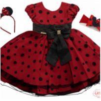 Vestido Infantil Minnie - 1 ano - Menina Bonita