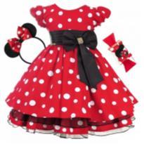 Vestido Luxo Infantil - 1 ano - Menina Bonita