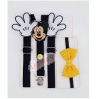 Suspensório Infantil  Mickey Com Gravata -  - Latika`s Baby